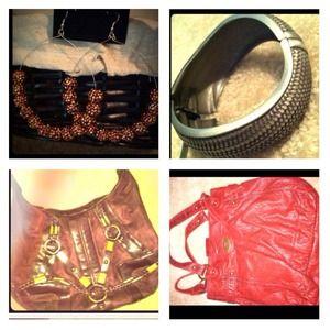 Handbags - Large Red Hobo bag BUNDLEEEEEEEE!