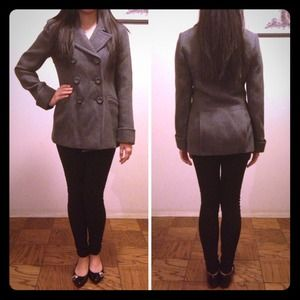 Victoria's Secret Outerwear - VICTORIA'S SECRET HEATHER GREY PEACOAT