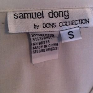 Tops - SAMUEL DONG VNECK WHITE BUTTON DOWN!
