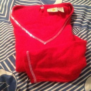 Tops - Red beaded sweater