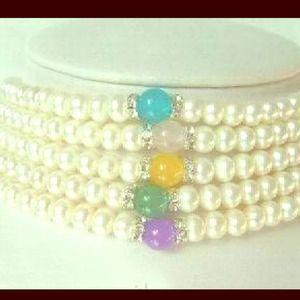 BWOT 📦AA+ grade 1 pc ~ Pearls & Jade necklace