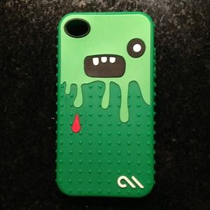 Accessories - Like New iPhone4/4s soft case. Cucumber Monster 😝