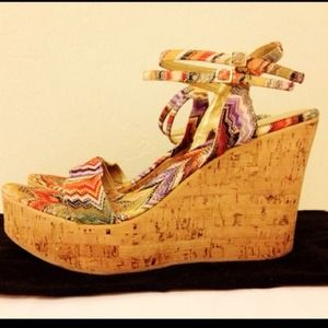 Missoni Shoes - Missoni Multicolor Cork Wedges