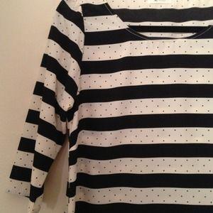 Brand new stripe & polka for top