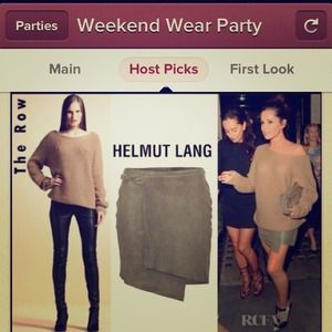 HOST PICKHELMUT LANG LEATHER MINI