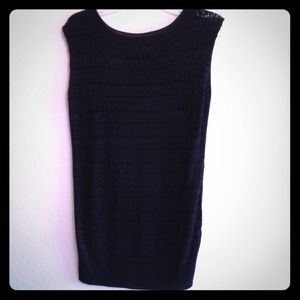 Tulle Black Sweater Dress