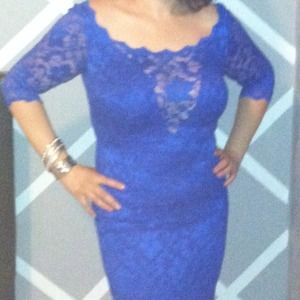 Dresses & Skirts - Reserve***Beautiful Royal Blue Lace dress size L