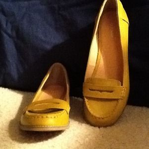 Old Navy Mustard Color Loafers | Poshmark