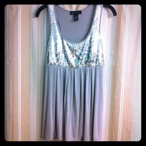 INC-International Concepts grey/silver sequin tank