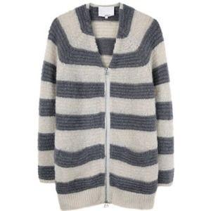 3.1 Phillip Lim Grey Striped Sweater