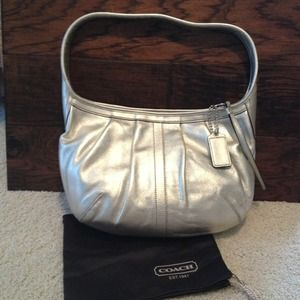 REDUCEDCoach Platinum Leather Hobo