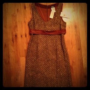NWT! D&G Tweed and Leather Dress
