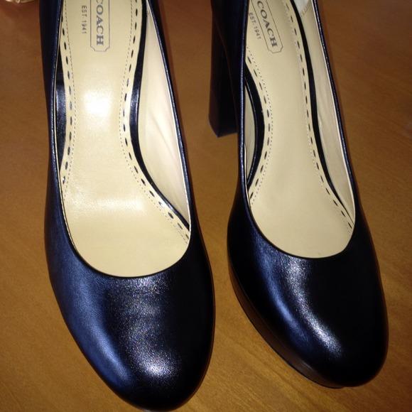 7e9f3388037c Coach Shoes - FINAL SALE Coach platform pumps - black size 10