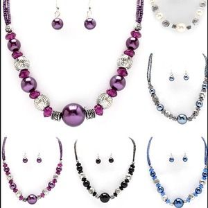 Jewelry - Christmas ball necklaces and matching earrings.
