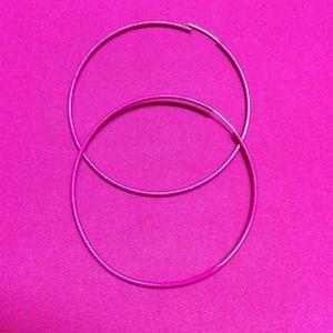 Magenta hoop earrings