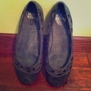 Shoes - Grey Cut-Out Flats!!!