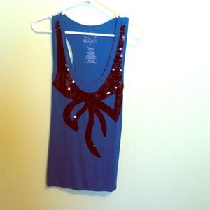 Tops - Sequin Bow Tank!