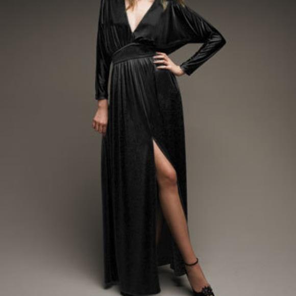 999287e44e Halston Heritage Deep V Neck Jersey Dress New