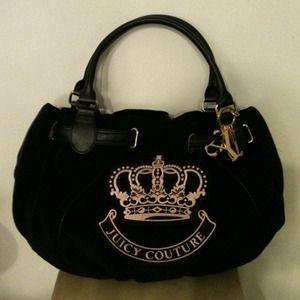 JUICY COUTURE authentic black soft handbag