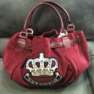 JUICY couture authentic soft burgundy handbag