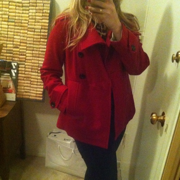 GAP Jackets & Blazers - GAP-red peacoat