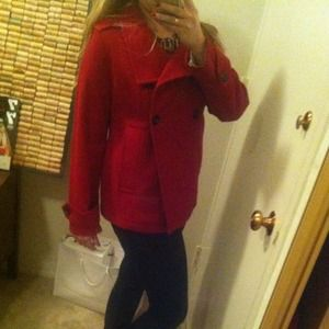 GAP Jackets & Coats - GAP-red peacoat 2