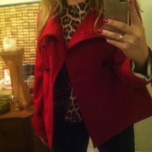 GAP Jackets & Coats - GAP-red peacoat 3