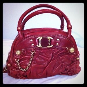 Juicy Couture Riot Bowler Handbag in Wine