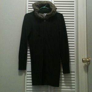 Zip up long hoodie