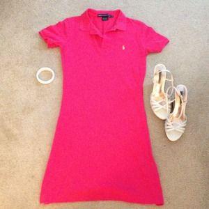 Ralph Lauren Dresses & Skirts - Hot Pink Polo Dress