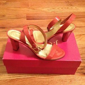 J crew Palma patent ankle wrap heels