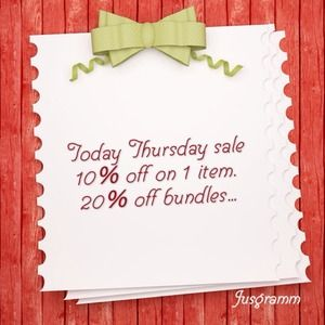 Accessories - 10% off 1item.  20% off bundles