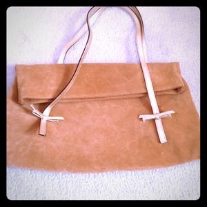 Handbags - Suede clutch in camel color⭐⭐
