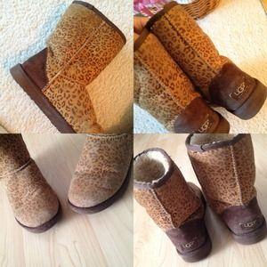 UGG Boots - Super cute! Rare Leopard Uggs