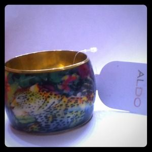 "ALDO Jewelry - Aldo Cuff Bangle 2"" exotic jungle Leopard Bracelet"