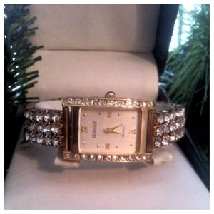 Anne Klein Jewelry - Anne Klein Gold & Crystal Watch Bundle