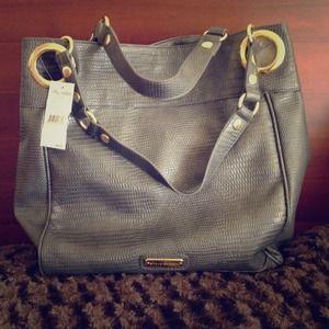 Steve Madden Handbags - Steve Madden grey reptile large tote