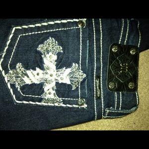 Miss Me Jeans - Miss Me NWTS rhinestone cross jeans!