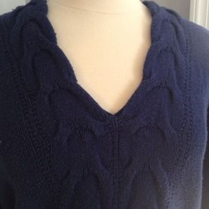 Old Navy Sweaters - REDUCED  Navy Blue Hooded Sweater