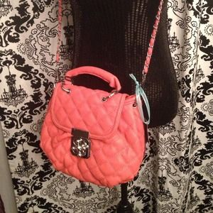 Handbags - Quilted Coral Bag