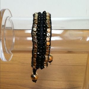 Jewelry - NWOT! Black Beaded Bracelet