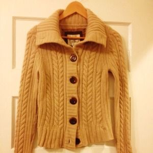 Tan Cable Knit Sweater