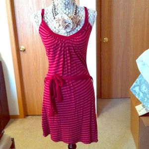 Dresses & Skirts - Red striped dress-sold on vinted