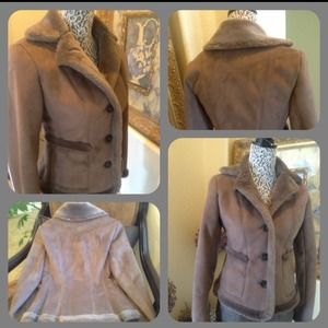 Taupe Suede like jacket from Ann Taylor.