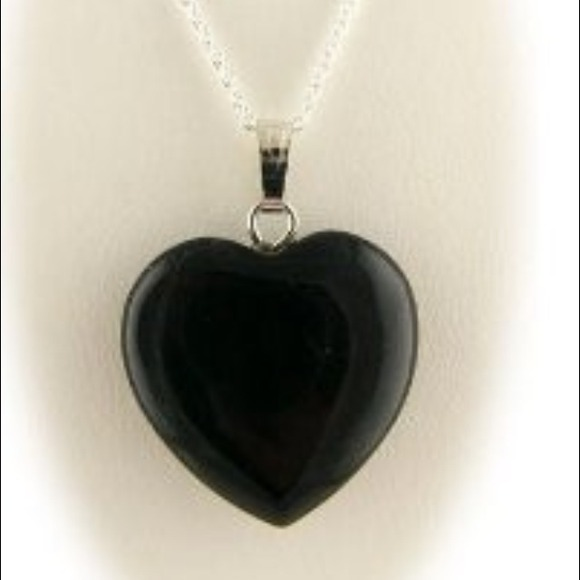 4f24d28b88496 Tiffany & Co. Black onyx heart necklace