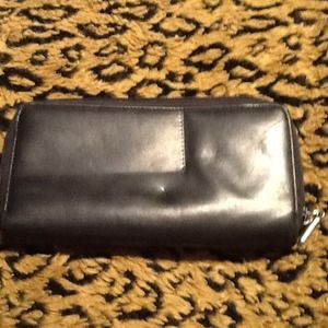 Clutches & Wallets - Authentic black leather wallet