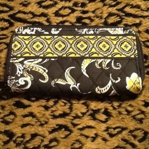 Clutches & Wallets - Black and yellow flower wallet