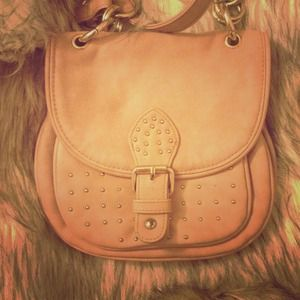 Blush colored satchel
