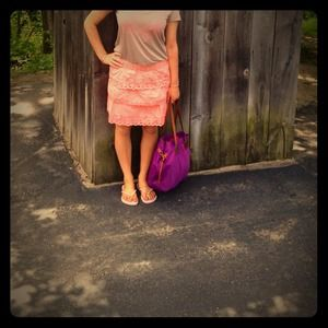 Jcrew skirt in pink