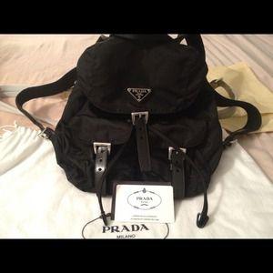 21c0d1db940f Prada classic nylon backpack black
